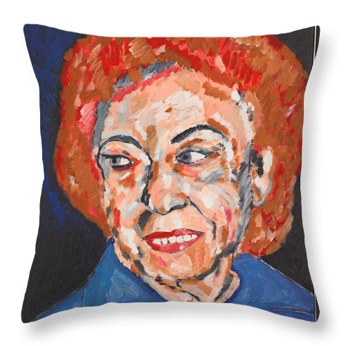 Portrait Throw Pillow featuring the painting Tamara by Valerie Ornstein