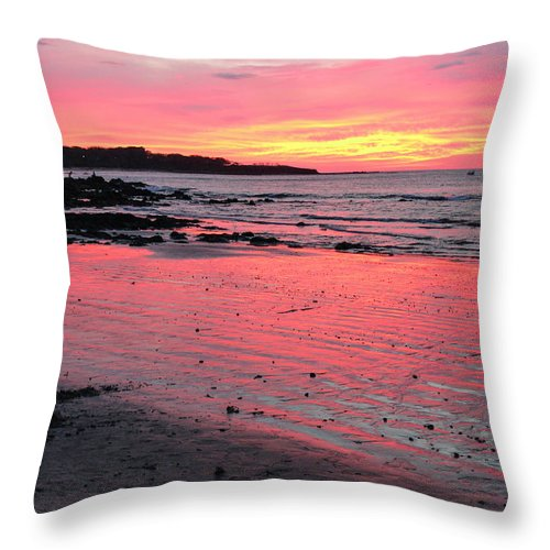 Sunset Throw Pillow featuring the photograph Tamarindo Sunset by Lorraine Baum