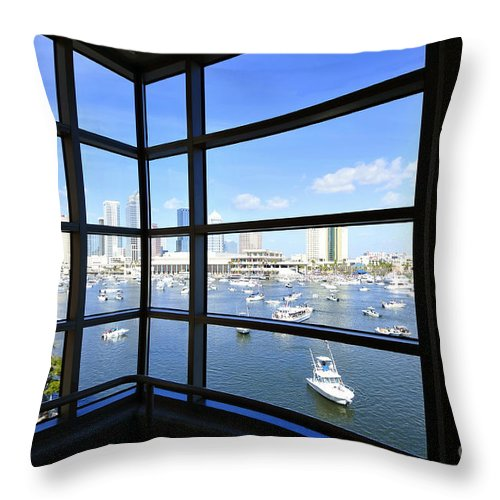 Tampa Bay Florida Throw Pillow featuring the photograph Tampa Bay Florida by David Lee Thompson
