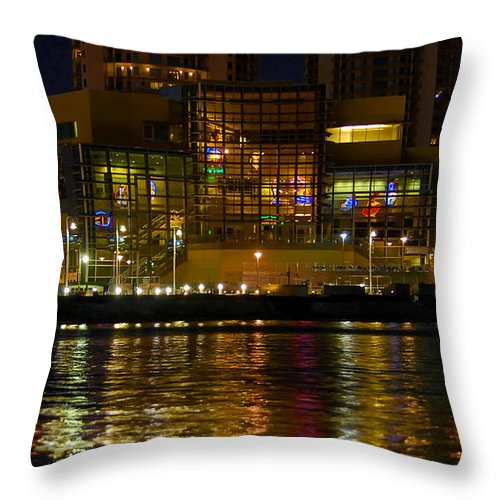Tampa Bay History Center Throw Pillow featuring the photograph Tampa Bay History Center by David Lee Thompson
