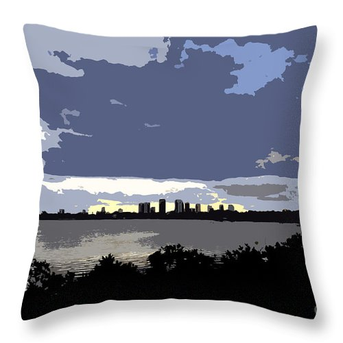Tampa Bay Florida Throw Pillow featuring the painting Tampa Bay Work Number Three by David Lee Thompson