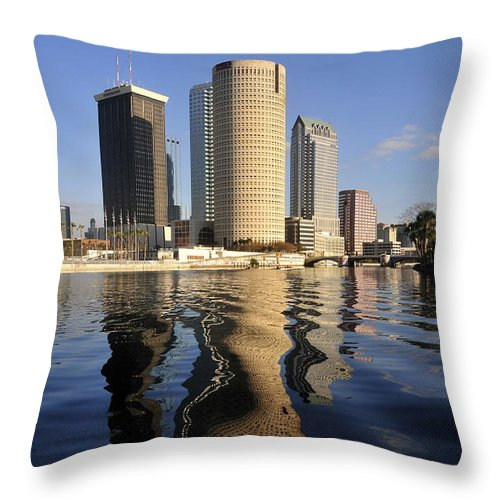 Tampa Bay Florida Throw Pillow featuring the photograph Tampa Florida 2010 by David Lee Thompson