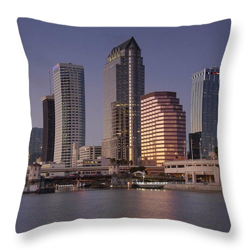 Tampa Florida Throw Pillow featuring the photograph Tampa Florida by David Lee Thompson
