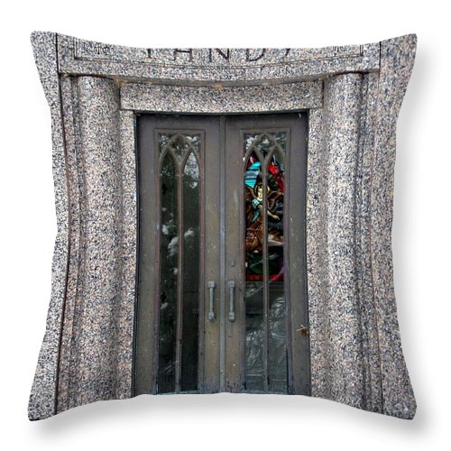 Cemetery Throw Pillow featuring the photograph Tandy by Amy Hosp