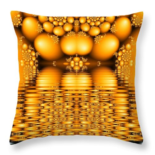 Tangerine Orange Water Sacred Tears Throw Pillow featuring the digital art Tangerine Tears by Veronica Jackson