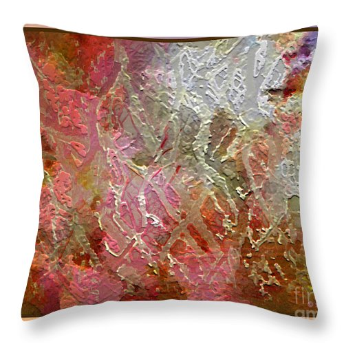 Abstract Throw Pillow featuring the photograph Tangled Branches II by Dee Flouton