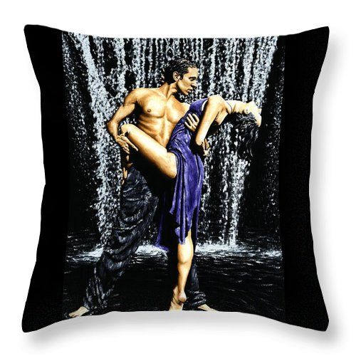 Tango Throw Pillow featuring the painting Tango Cascade by Richard Young