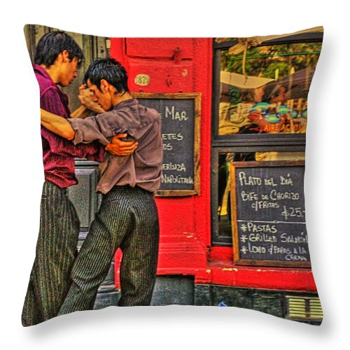 Tango Throw Pillow featuring the photograph Tango by Francisco Colon