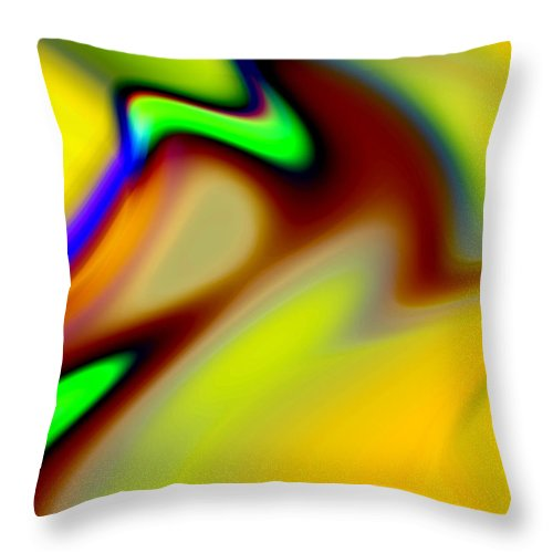 Abstract Throw Pillow featuring the digital art Tango by Ruth Palmer