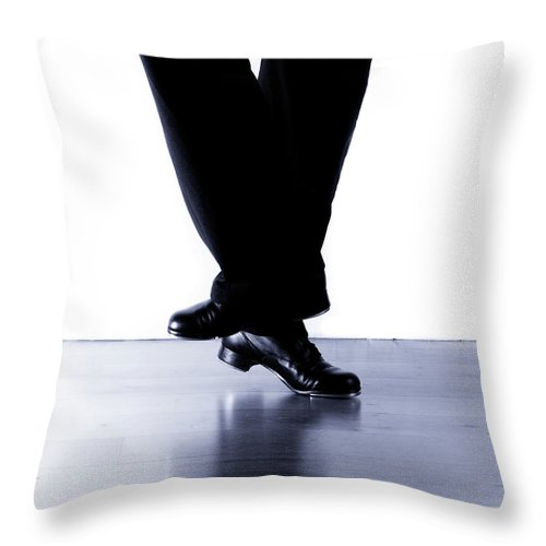 Tap Dance Throw Pillow featuring the photograph Tap Dance 2 by Scott Sawyer