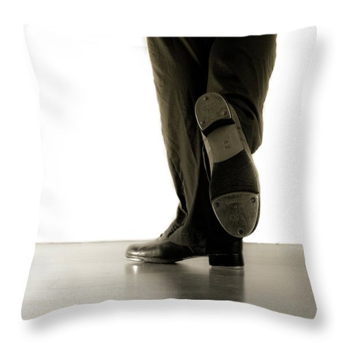 Tap Dance Throw Pillow featuring the photograph Tap Foot by Scott Sawyer