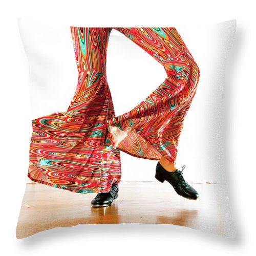 Tap Dance Throw Pillow featuring the photograph Tap Movement by Scott Sawyer