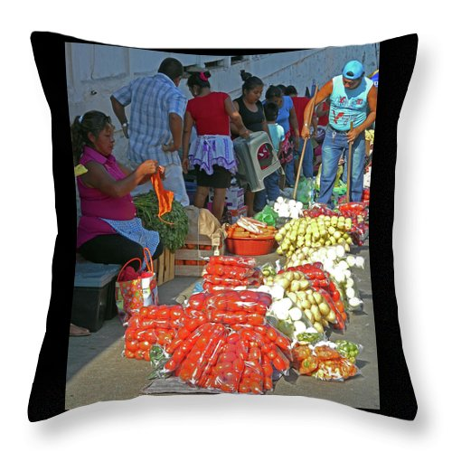 Tapachula Throw Pillow featuring the photograph Tapachula 8 by Ron Kandt
