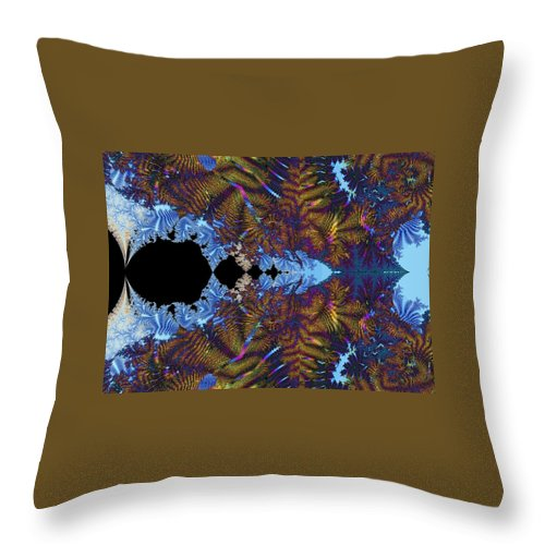 Throw Pillow featuring the digital art Tapestry With Rock by Christopher Jay