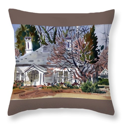 Tapp House Throw Pillow featuring the painting Tapp House by Donald Maier