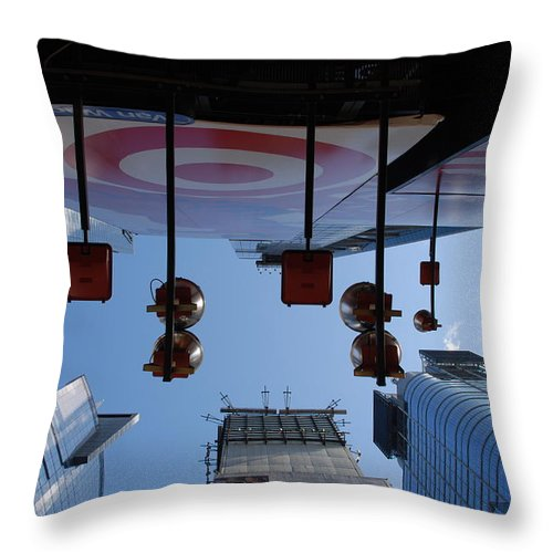 Architecture Throw Pillow featuring the photograph Target Lights by Rob Hans