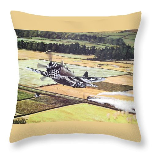 Military Throw Pillow featuring the painting Target Of Opportunity by Marc Stewart