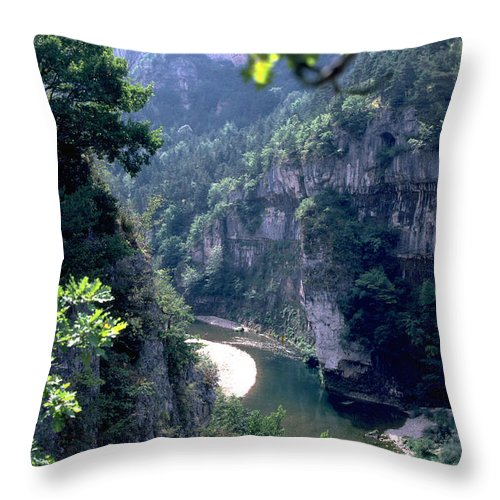 France Throw Pillow featuring the photograph Tarn by Flavia Westerwelle