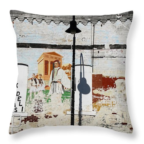 Greek Throw Pillow featuring the photograph Tarpon Springs by David Lee Thompson