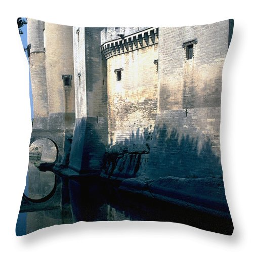 Tarragon France Castle Throw Pillow featuring the photograph Tarragon France by Flavia Westerwelle