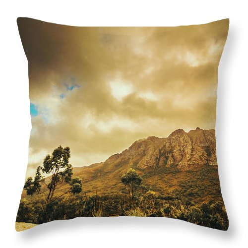Mountains Throw Pillow featuring the photograph Tasmania Mountain Marvels by Jorgo Photography - Wall Art Gallery