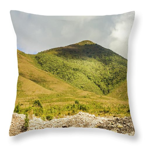 Australia Throw Pillow featuring the photograph Tasmanian Mountains by Jorgo Photography - Wall Art Gallery