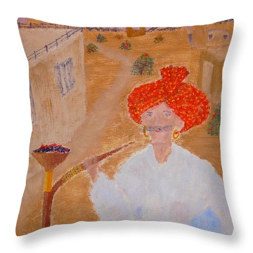 People Throw Pillow featuring the painting Tau by R B