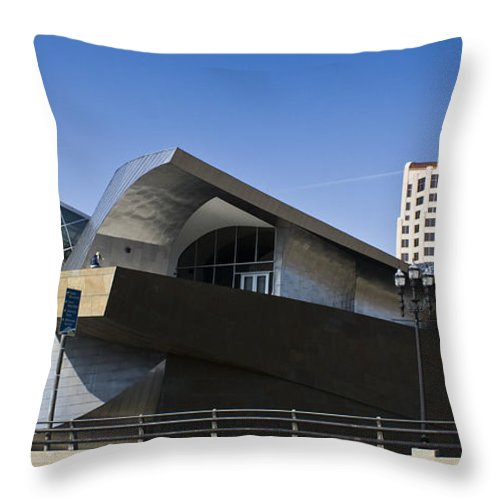 Roanoke Throw Pillow featuring the photograph Taubman And Tower Roanoke Virginia by Teresa Mucha