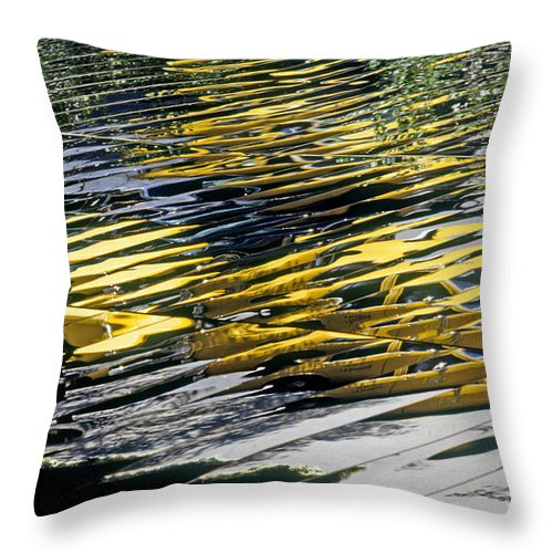 Abstract Throw Pillow featuring the photograph Taxi Abstract by Tony Cordoza