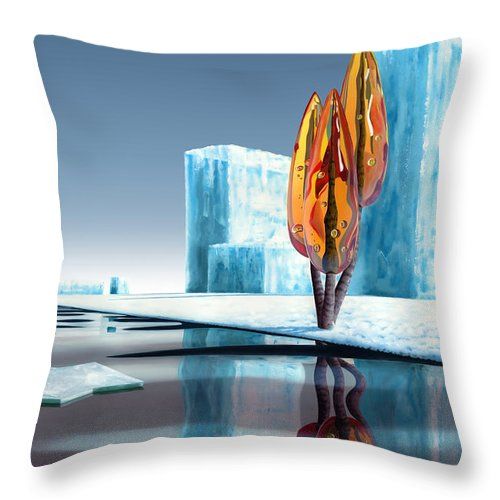 Architecture Throw Pillow featuring the painting Taxus Glacialis by Patricia Van Lubeck