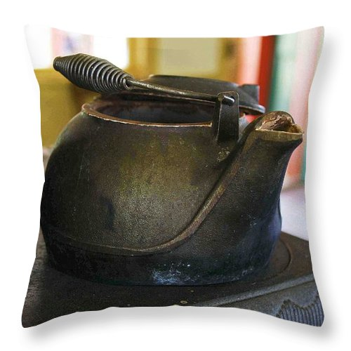 Tea Kettle Throw Pillow featuring the photograph Tea Kettle by Nelson Strong