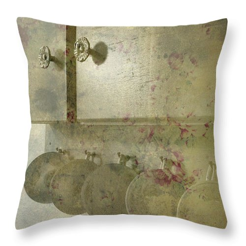Shabby Chic Throw Pillow featuring the photograph Tea Time by Bonnie Bruno