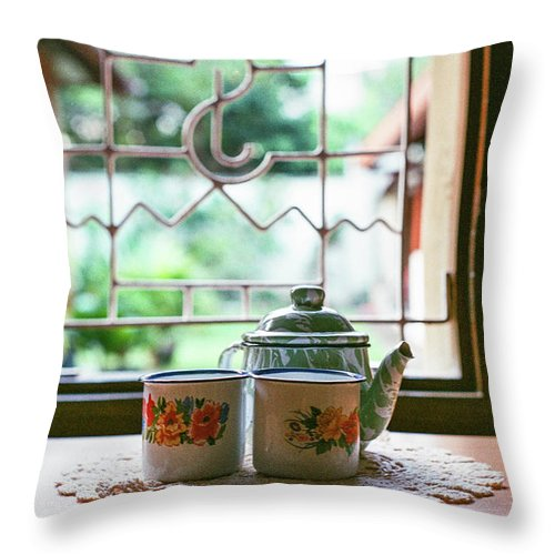 Tea Throw Pillow featuring the photograph Tea Time by Briana M