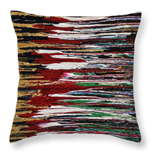 Fusionart Throw Pillow featuring the painting Tears Of The Sun by Ralph White