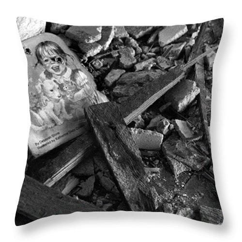 Dark Art Throw Pillow featuring the photograph Tell Me A Story by Peter Piatt