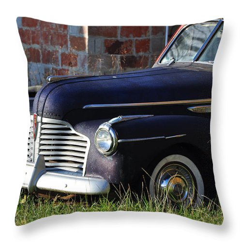 Cars Throw Pillow featuring the photograph Tell Me What You See by Jan Amiss Photography