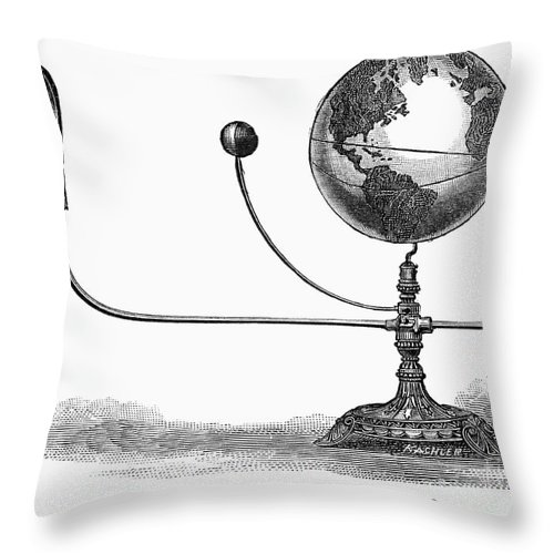19th Century Throw Pillow featuring the photograph Tellurian Globe by Granger