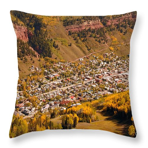 Telluride Colorado Throw Pillow featuring the photograph Telluride by David Lee Thompson