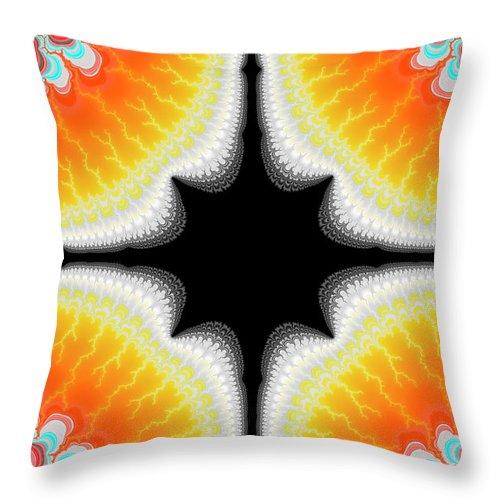 Fractal Throw Pillow featuring the digital art Fractal 7 2x3 by Daniel George