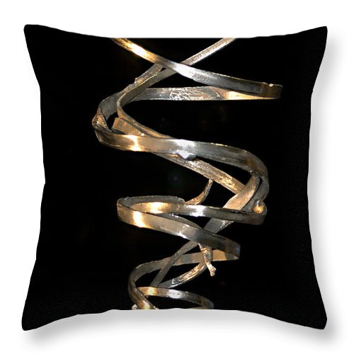 Abstract Throw Pillow featuring the sculpture Tempest by David Rivas