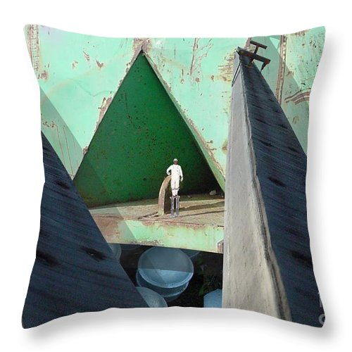 Abstract Throw Pillow featuring the digital art Temple by Ron Bissett