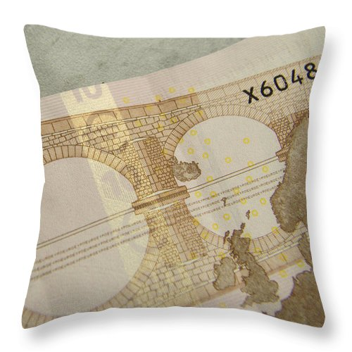 Money Throw Pillow featuring the photograph Ten Euro Note by Adrian Wale