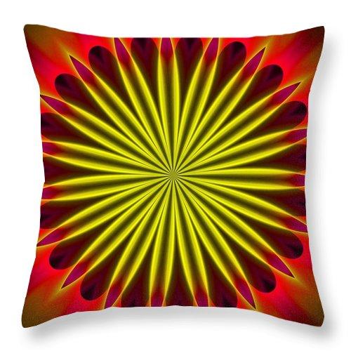 Fine Art Throw Pillow featuring the digital art Ten Minute Art 102610c by David Lane