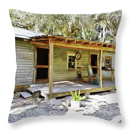 Home Throw Pillow featuring the photograph Tenant House by D Hackett