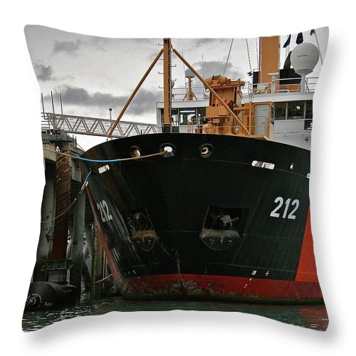 Uscg Throw Pillow featuring the photograph Tender by Rick Monyahan