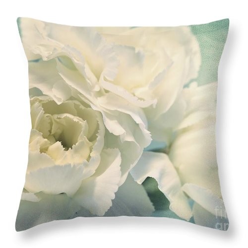 Carnation Throw Pillow featuring the photograph Tenderly by Priska Wettstein