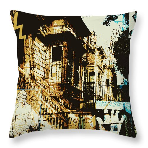 Victorian Throw Pillow featuring the photograph Tenementality by Michael Thomas Angelo
