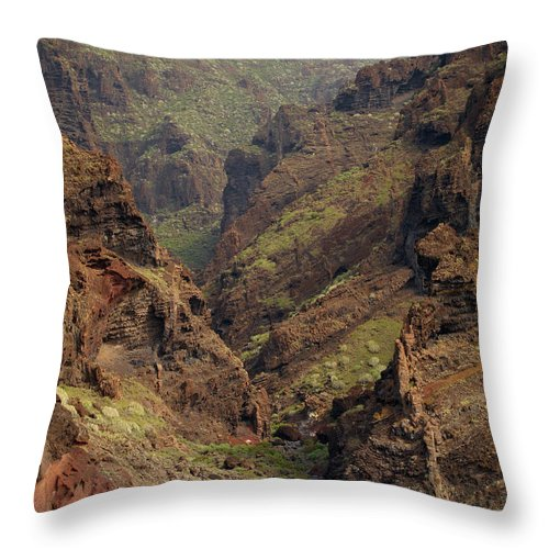 Valasretki Throw Pillow featuring the photograph Tenerife Coastline by Jouko Lehto