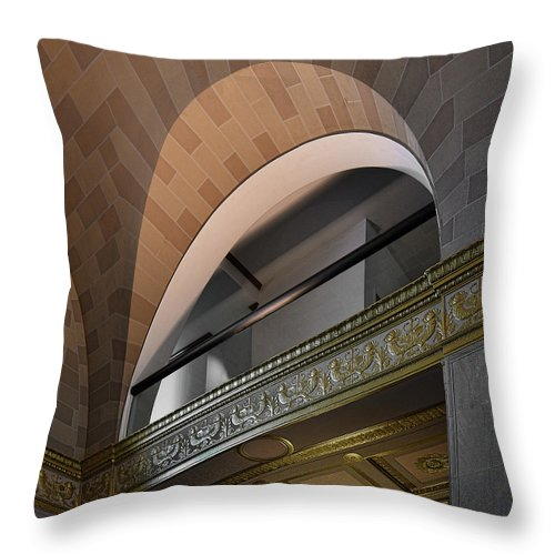Trains Throw Pillow featuring the photograph Terminal Station Detail - 01 by Frank Maxwell