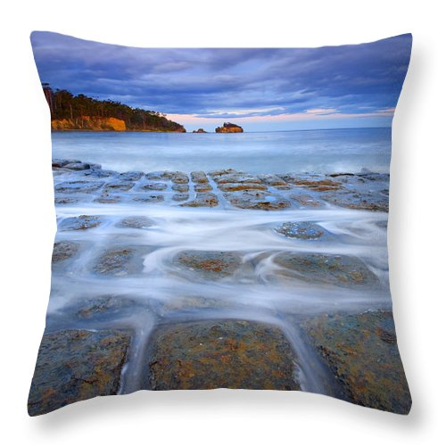 Sunset Throw Pillow featuring the photograph Tesselated Sunset by Mike Dawson
